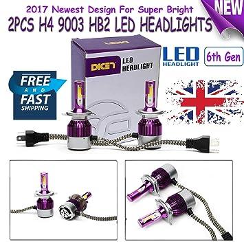 Kit de bombillas LED de 180 W H4 9003 HB2 para faros delanteros de intensidad alta y baja. 6ª generación.: Amazon.es: Coche y moto