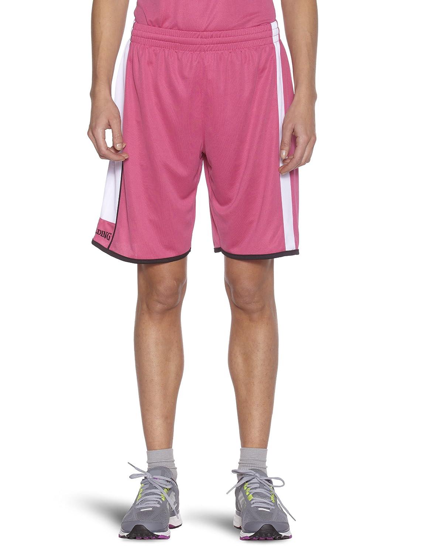 Spalding Pantalones cortos de baloncesto para mujer, 03 tamaño XL color rosa 301544408 301544408_Rosa-XL