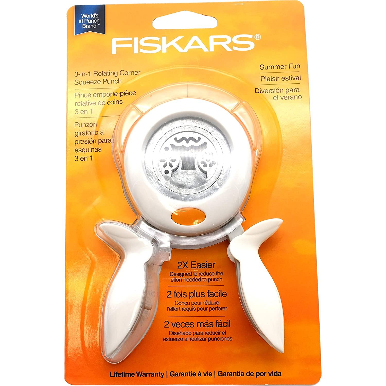 Amazon.com: Fiskars 3-in-1 Corner Squeeze Punches (Summer Fun) 1 pcs sku# 1831042MA: Arts, Crafts & Sewing