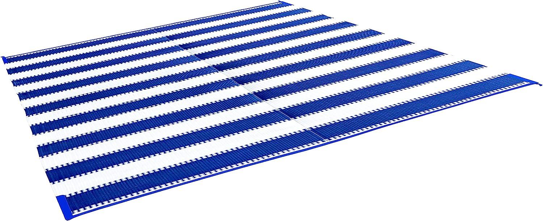 Camco 42871 Awning Leisure Mat-Blue Stripe 6 X 9