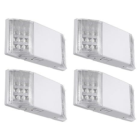 Amazon.com: Luces LED de salida de emergencia con batería de ...