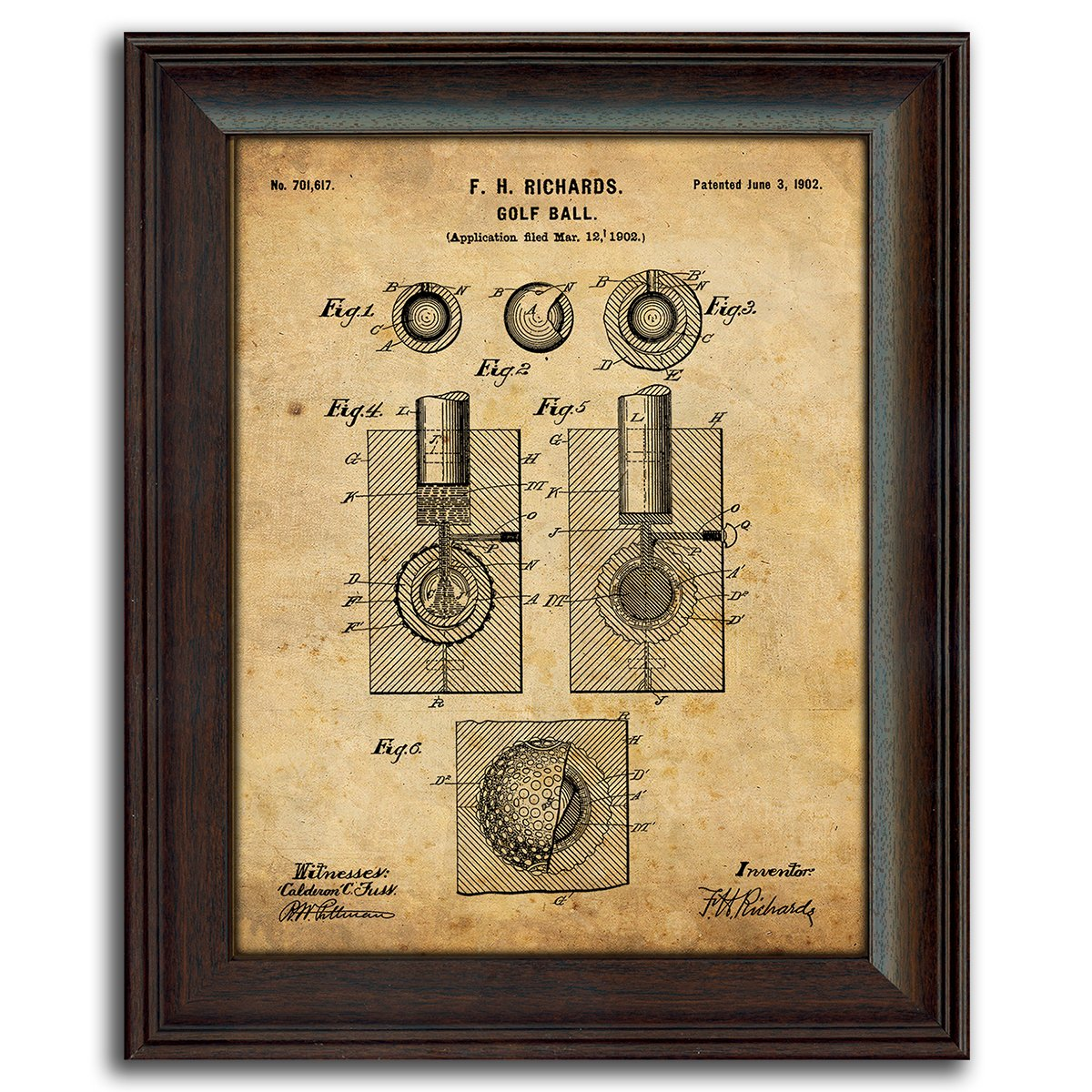 Amazon.com: 3 pc Framed Modern Patent Set - Golf 14\
