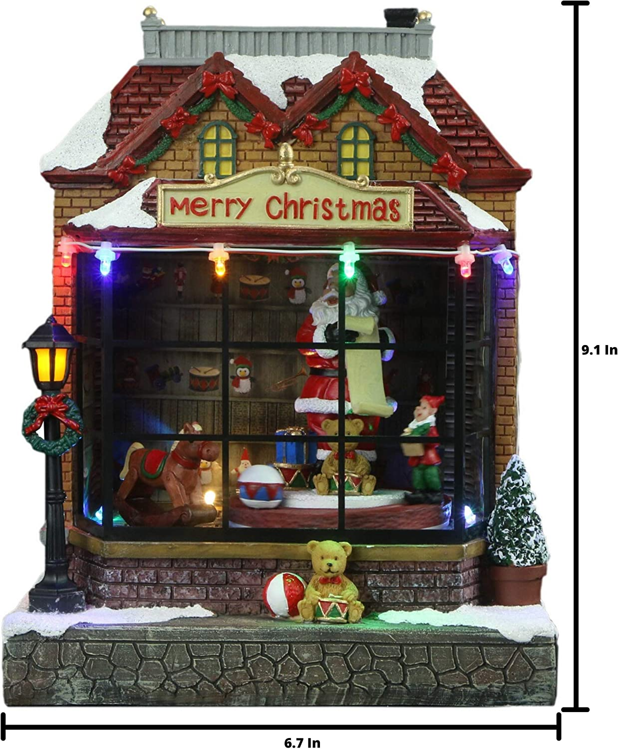 Beautiful Resin Light Up Christmas Ornaments Shops Indoor Christmas Decoration