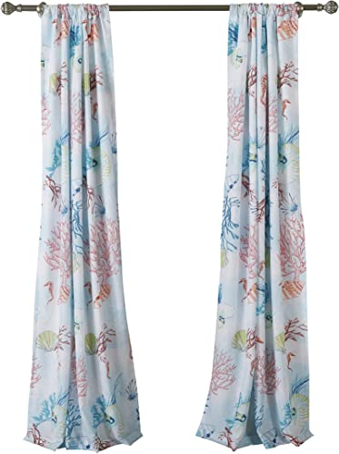 Barefoot Bungalow Sarasota Curtain Panel Pair
