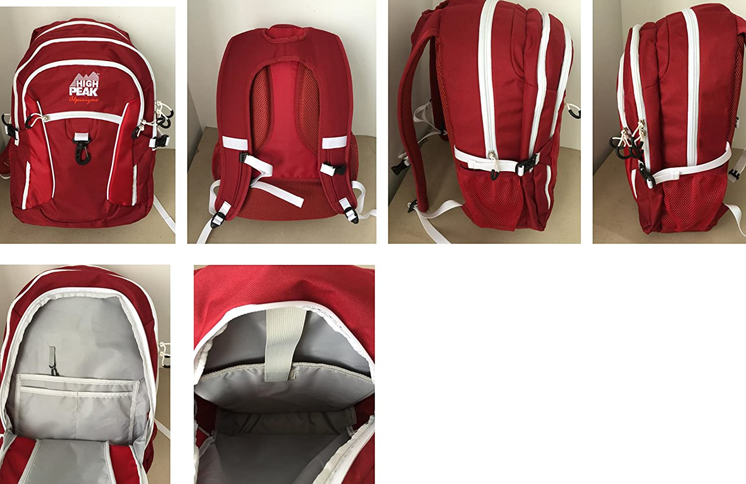 Blue//Red//Grey Alpinizmo High Peak USA Vector 38 Backpack Combo Set One Size HP 467