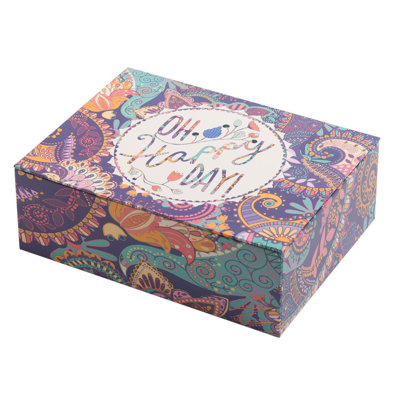 'creibo cbox004–Scatola cartone decorata Oh Happy Day