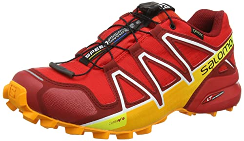 Salomon Speedcross 4 GTX, Scarpe da Trail Running Uomo, Rosso (Fiery Red/Red Dalhia/Bright Marigol 000), 46 2/3 EU