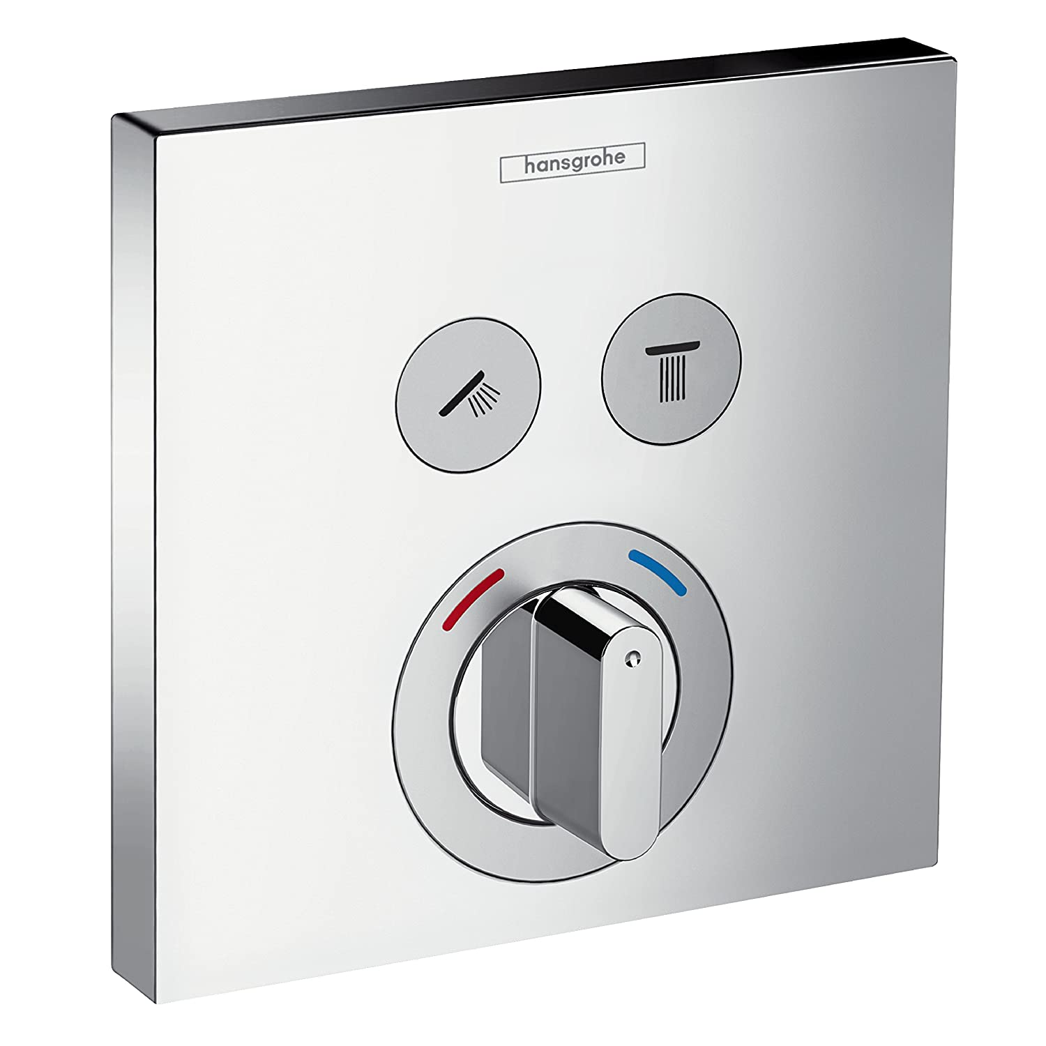 hansgrohe ShowerSelect mixer for 2 outlets, chrome 15768000: Amazon ...