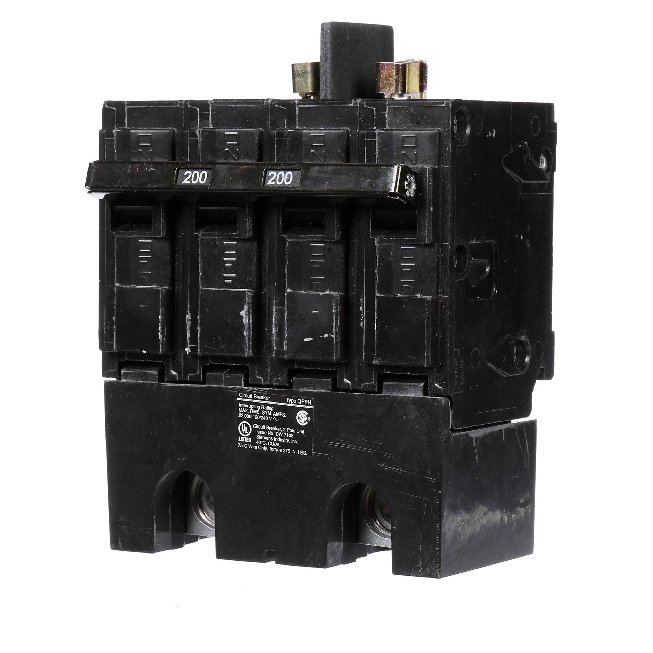 Siemens Q2200BH 200A 4 Pole 120/240-Volt 22K type QPPH Circuit Breaker