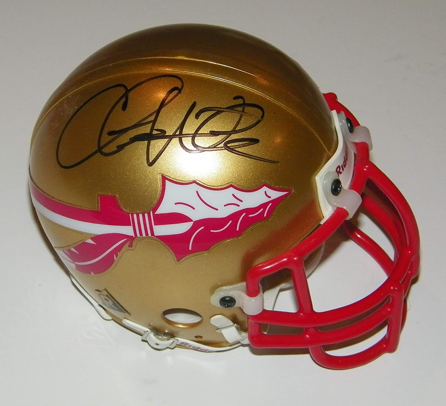 Chris Weinke Florida State Seminoles Autographed Riddell Speed Mini Helmet withHeisman 00 Inscription Fanatics Authentic Certified