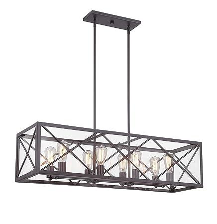 Designers Fountain 87338-SB High Line 8 Light Linear Chandelier