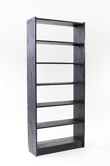 Vorratsregal Holz trendy home24 massiv bücherregal taupe grau braun holzregal