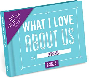 Knock Knock What I Love about Us Fill in the Love Book Fill-in-the-Blank Gift Journal, 4.5 x 3.25-inches