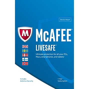 McAfee LiveSafe - Unlimited Licence (Windows / Mac / Android / iOS )