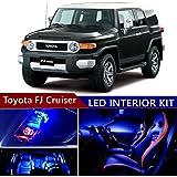 toyota fj cruiser 2007-2014 led premium blue light interior package kit ( 9  pcs