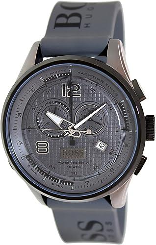 Hugo Boss 1512800 Grey Rubber Logo Strap Men'S Watch Advantages