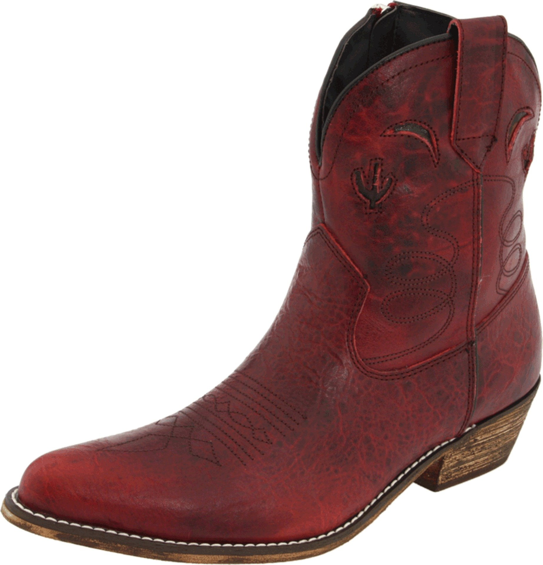 Dingo Women's Prince Street Boot,Red Distressed,10 B US