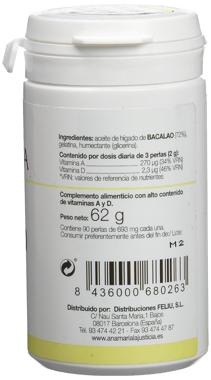 Ana María Lajusticia Hígado Bacalao - 90 Cápsulas: Amazon.es: Salud y cuidado personal