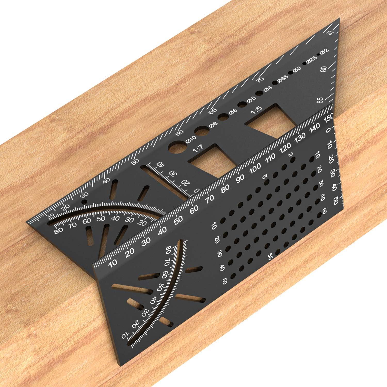 /Équerre 3D Outil de Mesure dAngle /à Onglets 3D R/ègle de Menuisier Carr/é /à 90 Degr/é 3D-R/ègle de Mesure Multi-angle Travail du Bois