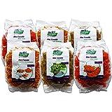 Bio Protein Nudeln Probierpaket (Fusilli 6 x 250g) - 2x Rote Linsen, 2x Kichererbse-Kurkuma und 2x Grüne Erbse - Low Carb - Vegan & Glutenfrei