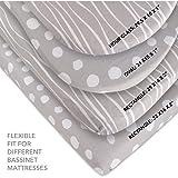Bassinet Sheet Set 2 Pack 100% Jersey Cotton Grey