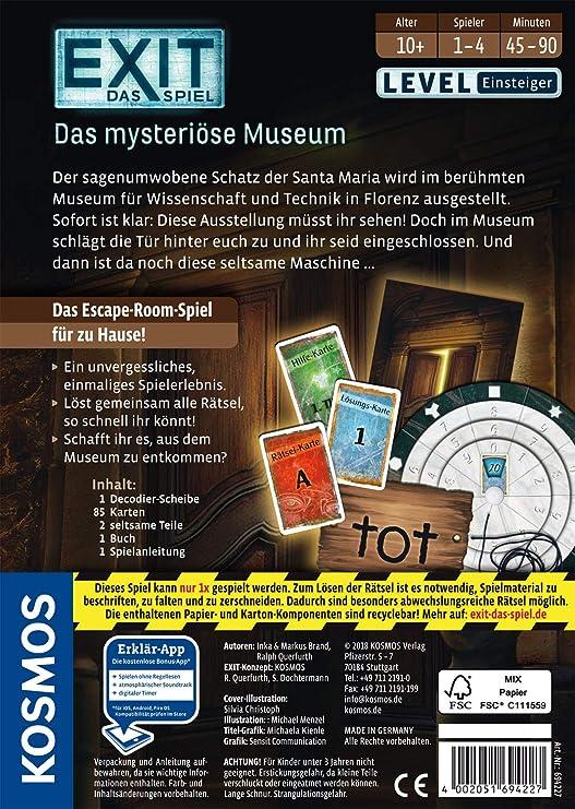 Kosmos 694227 Exit Das Spiel Das Mysteriöse Museum Level