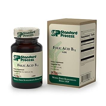 Standard Process - Folic Acid B12 - Folic Acid and Vitamin B12 Supplement,  Supports Cellular Health,