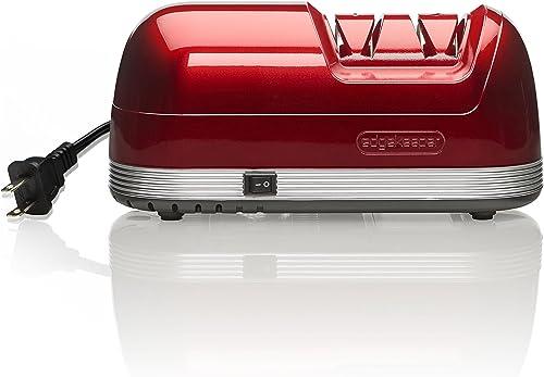 EdgeKeeper Electric Knife Sharpener, Red, 8.25-Inch -