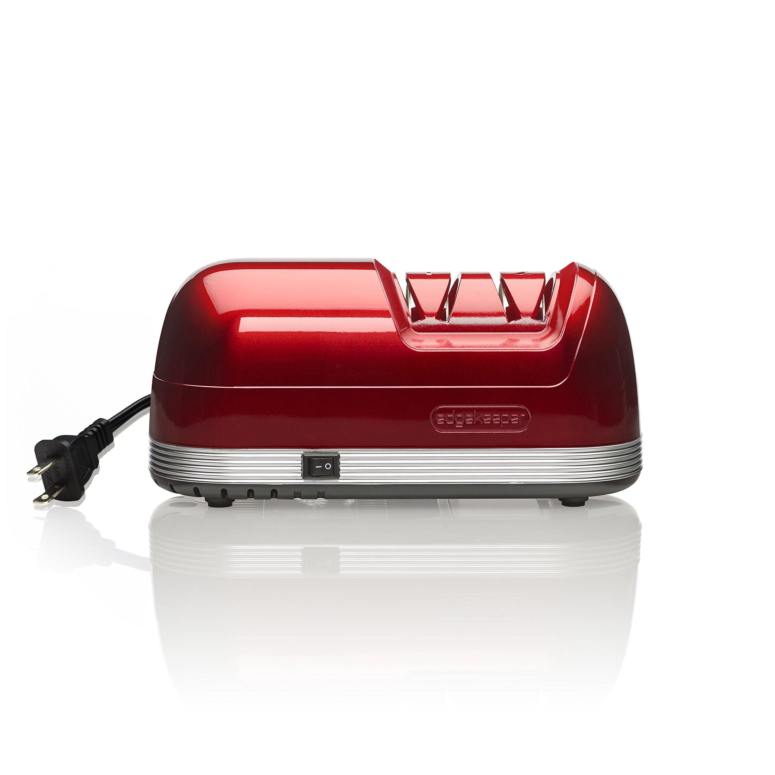 EdgeKeeper Electric Knife Sharpener, Red by EdgeKeeper
