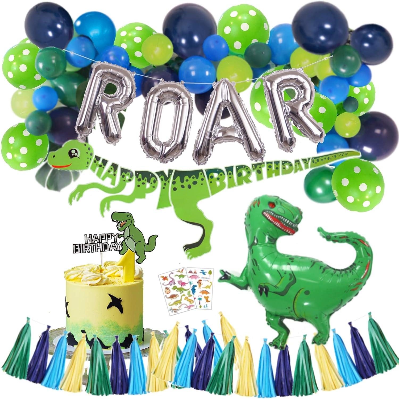 Glittery Dinosaur Happy Birthday Banner Dinosaur Theme Birthday Party Decorations,Dinosaur Birthday Decorations,Boys Birthday Party Supplies