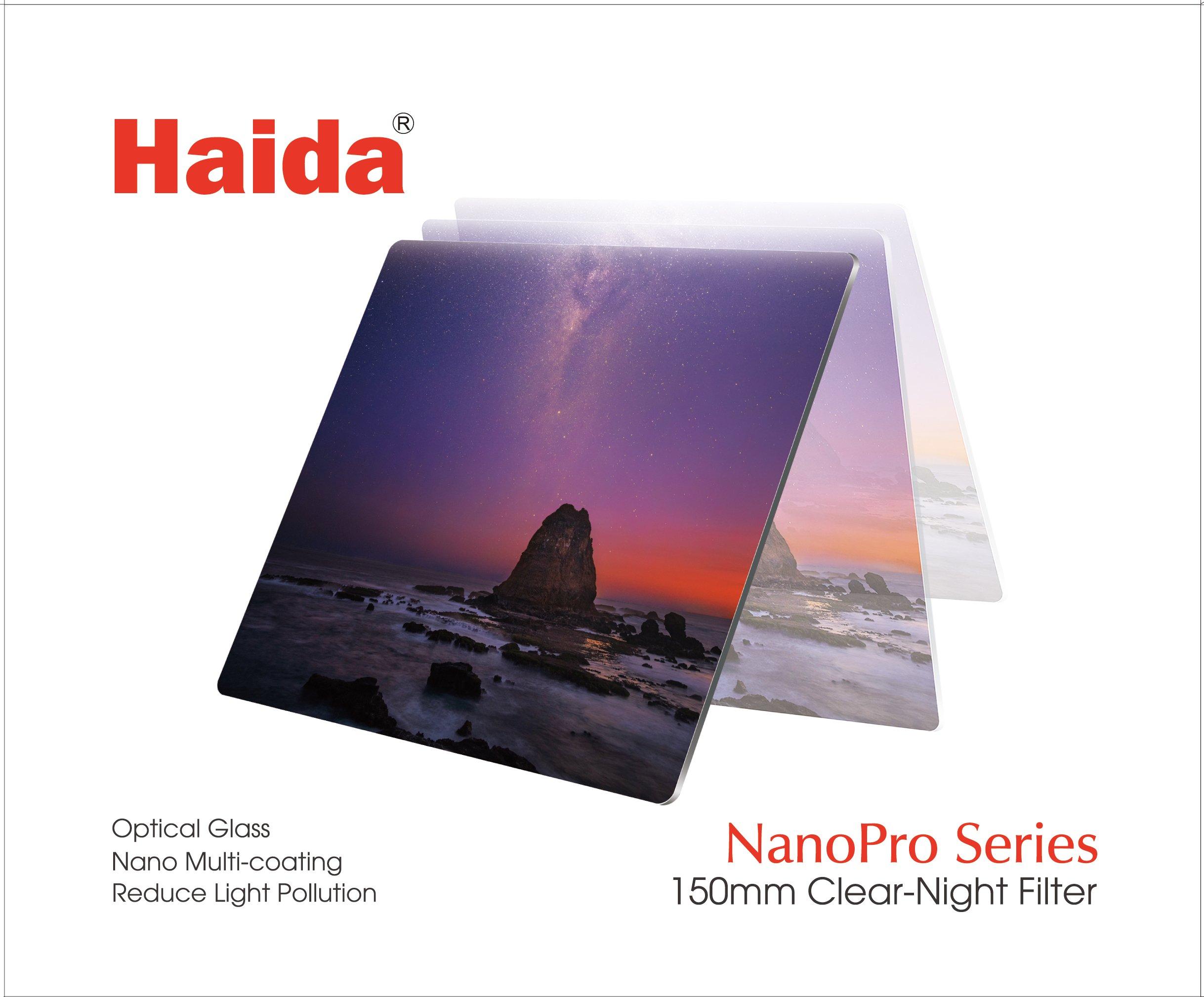 Haida 150mm Clear-Night Filter NanoPro MC Light Pollution Reduction for Sky / Star 150 x 150 HD3703