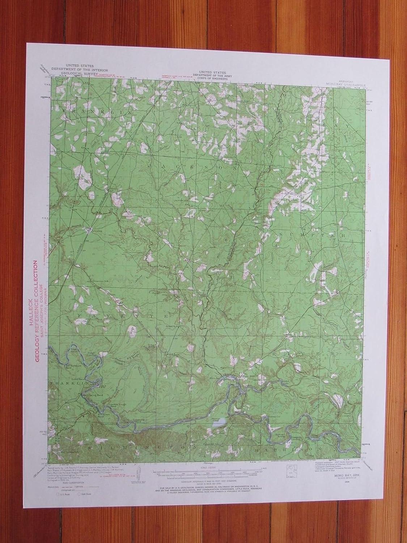 Amazon.com: Moro Bay Arkansas 1960 Original Vintage USGS ... on map of paris tourist attractions, map puzzles, map art, map services, map design,