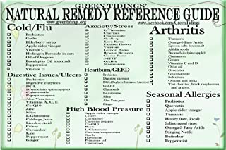 product image for Green Tidings Natural Remedy Reference Guide for Natural Health Care Chart, Medicinal Suggestion Chart For Natural Healing, Use for Flu, Ulcers, High Blood Pressure, Allergies, Stress & Arthritis