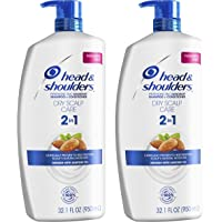Head and Shoulders Shampoo and Conditioner 2 in 1, Anti Dandruff Treatment, Dry Scalp Care, 32.1 fl oz, Twin Pack