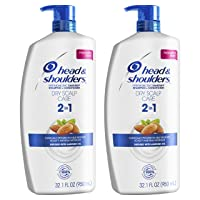 Head and Shoulders Shampoo and Conditioner 2 in 1, Anti Dandruff Treatment, Dry...