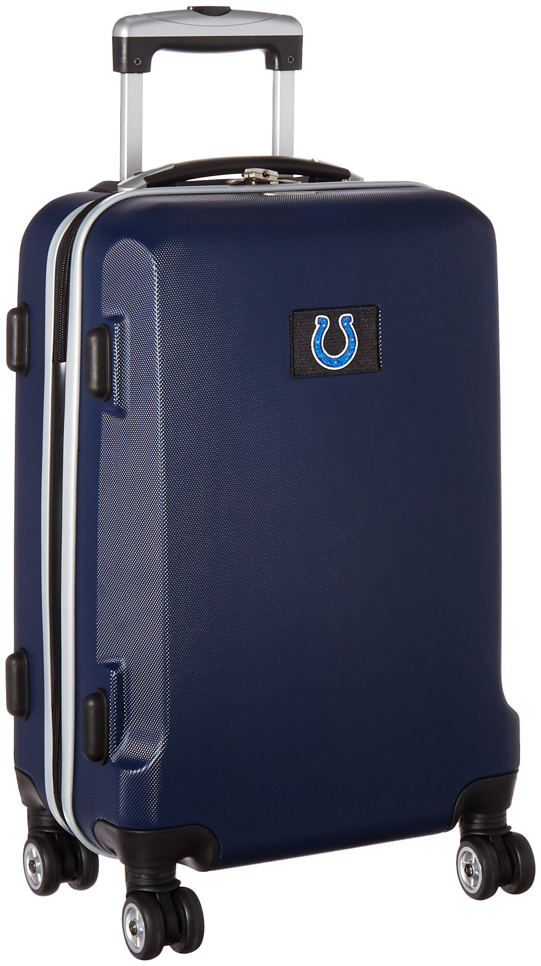 Denco NFL Indianapolis Colts Carry-On Hardcase Luggage Spinner, Navy by Denco (Image #2)