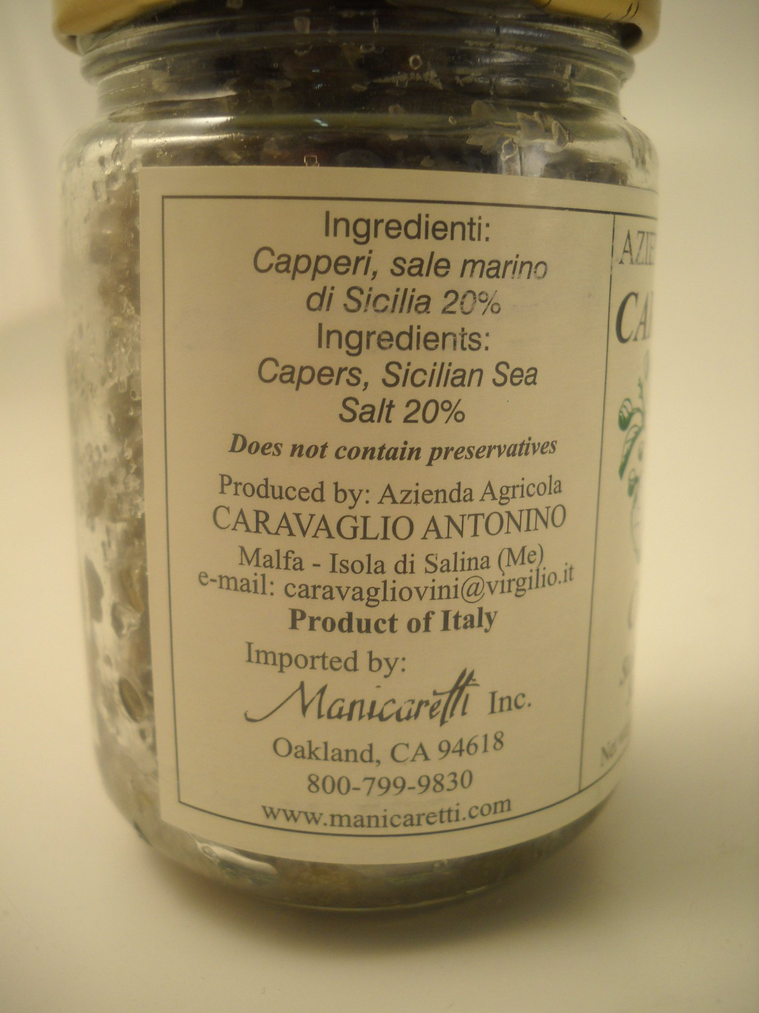 Caravaglio Capers from Sicily - Pack of 2