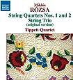 Rozsa: String Quartets Nos. 1 / 2 [Tippett Quartet] [Naxos: 8572903]