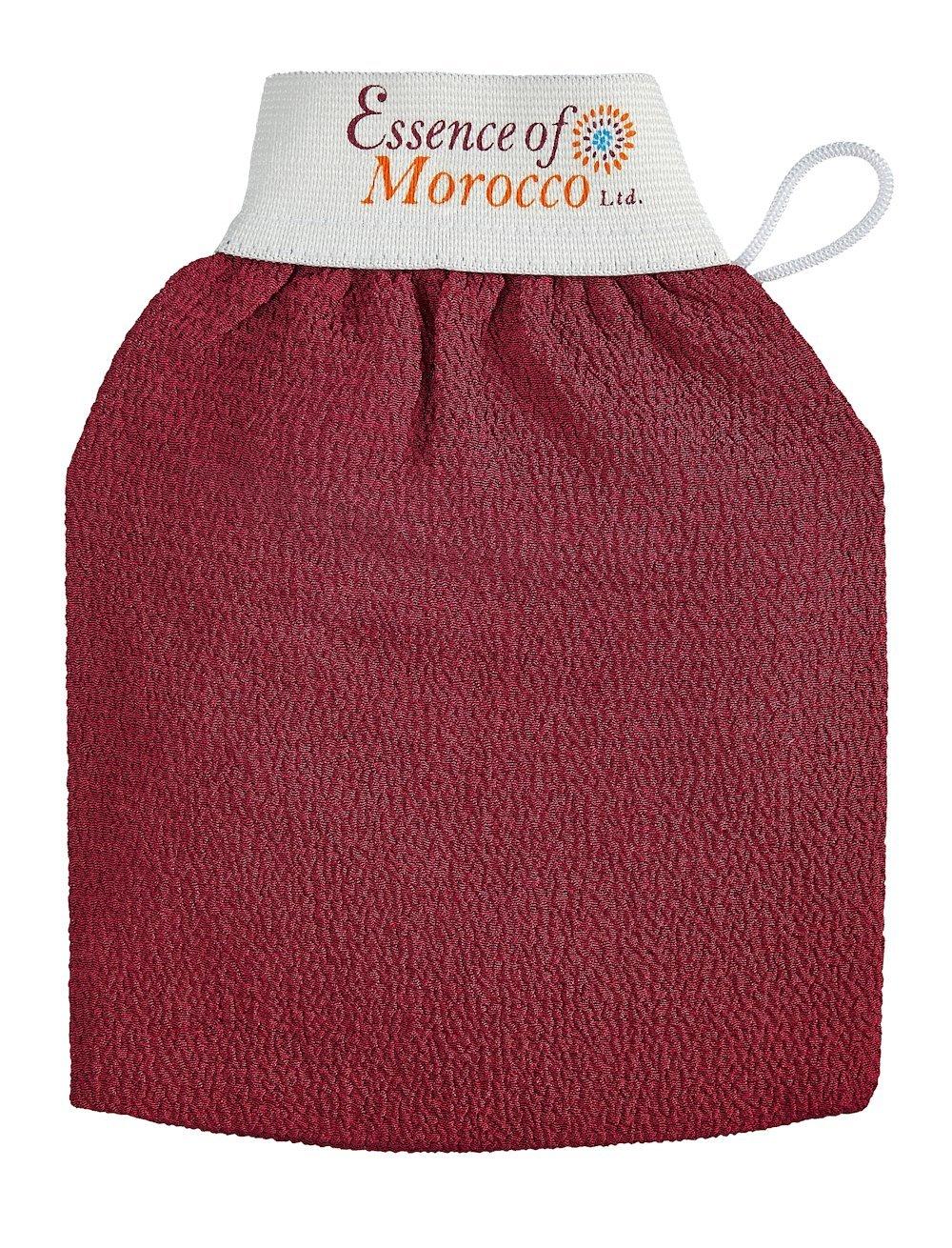 Marokkanischer Kessa-Handschuh, traditionell für Hammam-Baderitual verwendet, beseitigt abgestorbene Hautzellen (Peeling) Premiumqualität. Essence of Morocco Ltd.