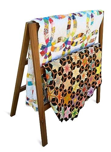 Amazon Premium Quilt Rack 3 Tier Quilt Ladder Holds 5