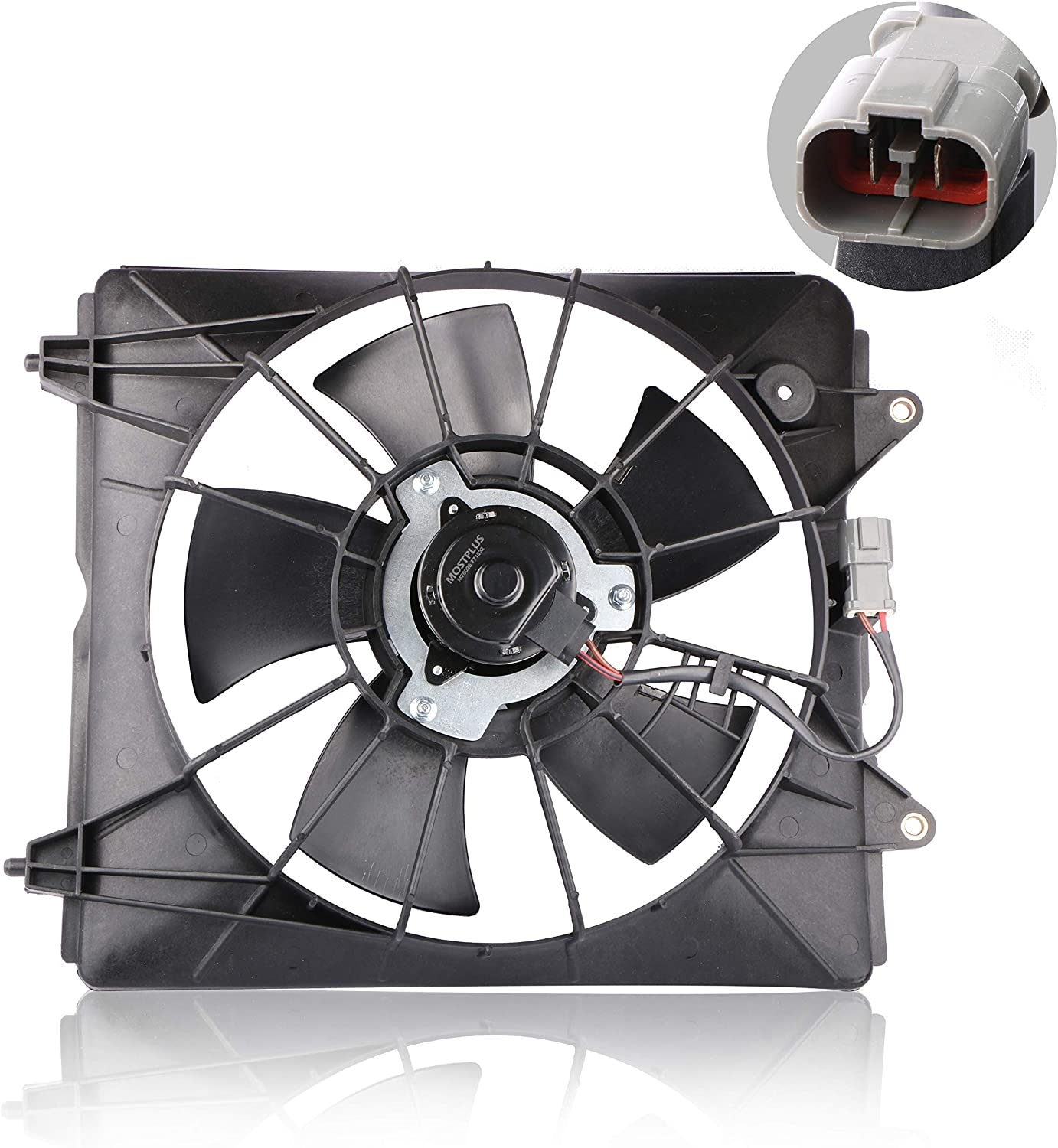 MOSTPLUS Driver Side Radiator Cooling Fan Assembly for 2007 2008 2009 Honda CRV 2.4L Replaces 19015RZAA01