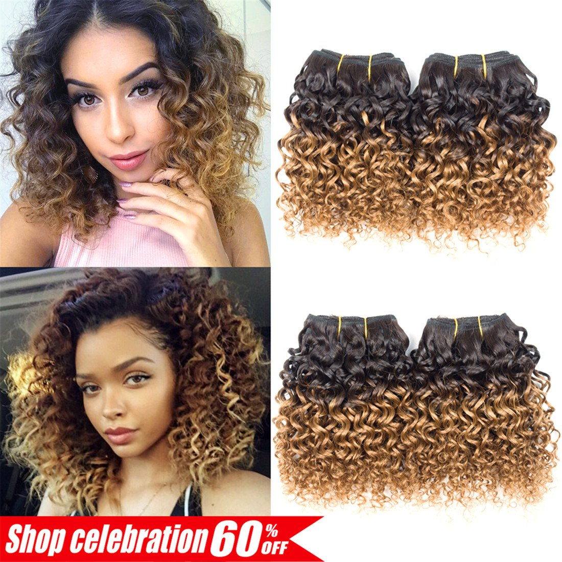 Amazon Ameli Hair 4 Bundles Short Human Hair Bundles Brazilian