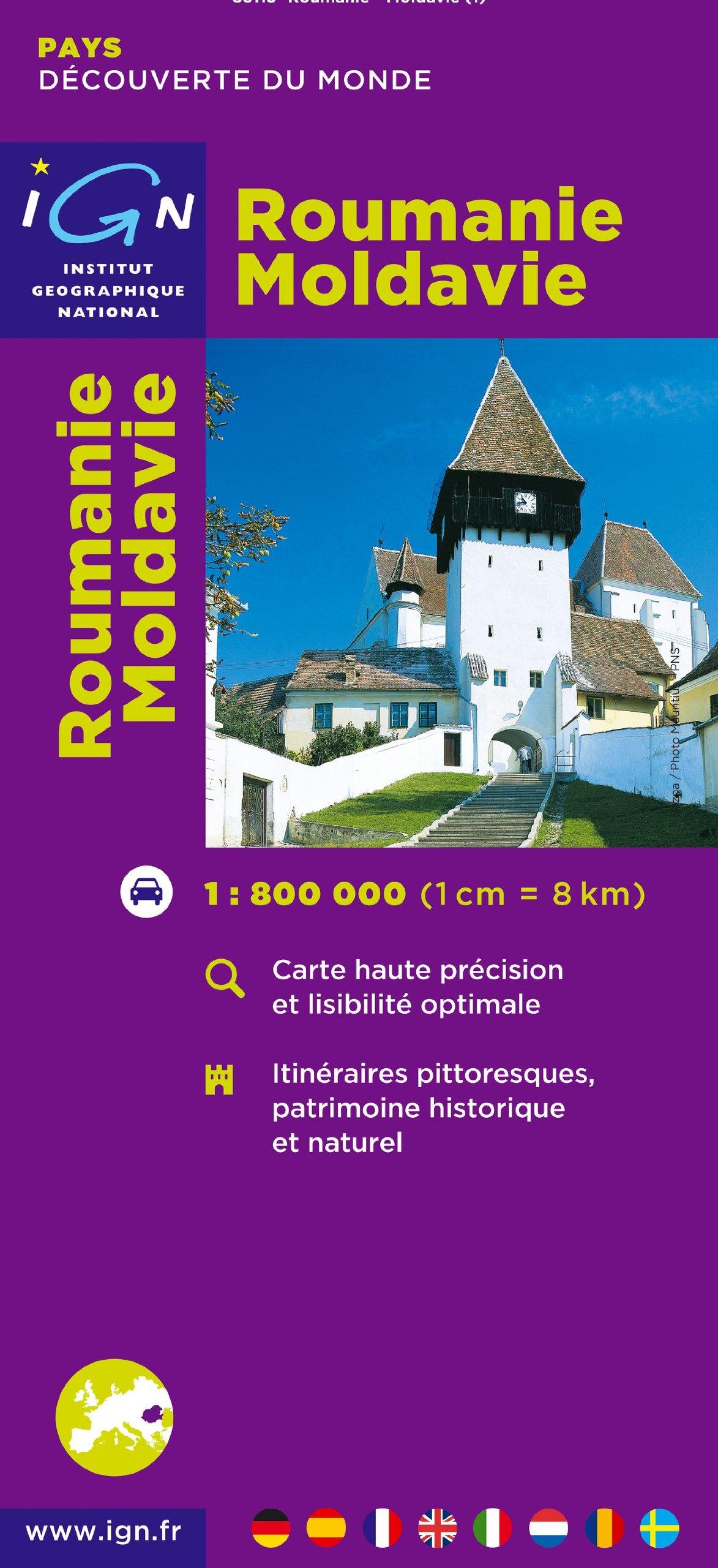 Carte Roumanie Moldavie.Roumanie Moldavie Amazon Fr Ign Livres