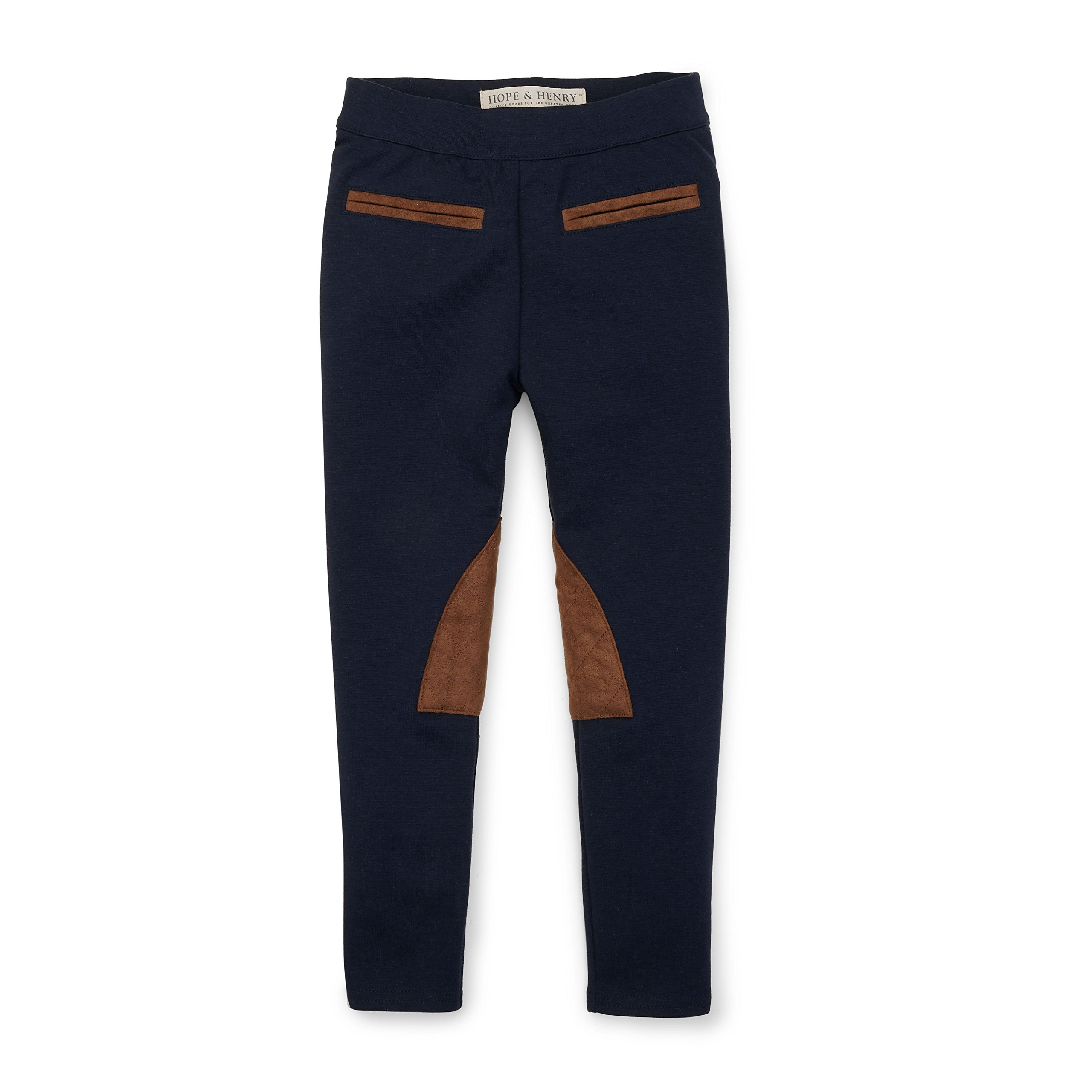 Hope & Henry Girls' Ponte Riding Pants Made with Organic Cotton Size 8
