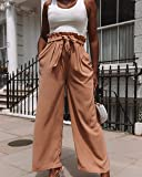 The Drop Women's Desert Taupe Loose Fit Paperbag Waist Pant by @thepatriciabright