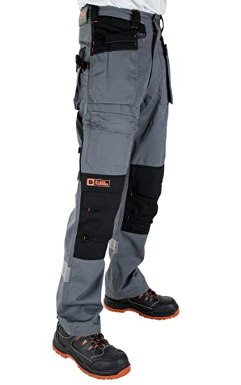 8121357f6f Black Hammer Mens Multi Pocket Cargo Heavy Duty Pro Work Trousers Triple  Stitched Cordura reinforcing Stress Points Knee Pad Pockets Phenomenal  Adult ...