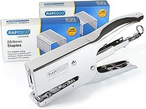 Rapesco Stapling Set, Porpoise Packaging Stapler & 2 Boxes of 5000 x 26/8mm Staples, Metal (1298)
