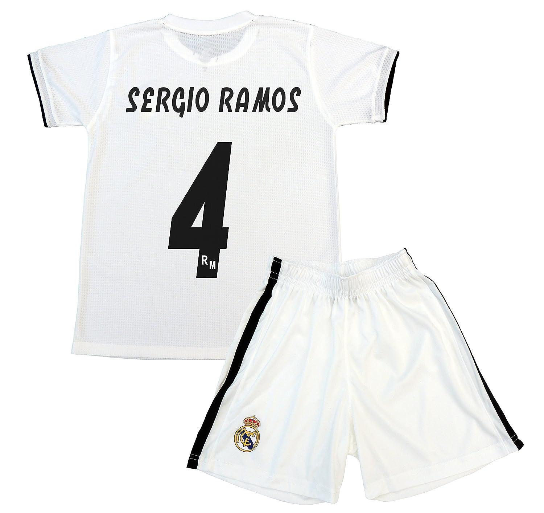 Box 1º Equipo Sergio Ramos Real Madrid JR 2018-2019 Conjunto Niño (T 8)   Amazon.es  Deportes y aire libre 39ffdb17b8f