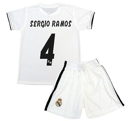 1d55f8e1b Box 1º Equipo Sergio Ramos Real Madrid JR 2018-2019 Conjunto Niño (T ...