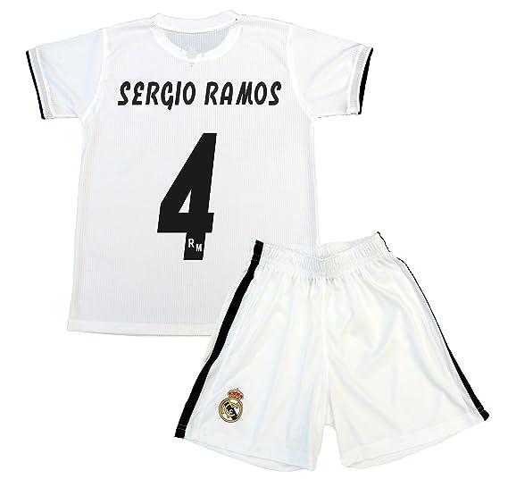 Box 1º Equipo Sergio Ramos Real Madrid JR 2018-2019 Conjunto Niño ...